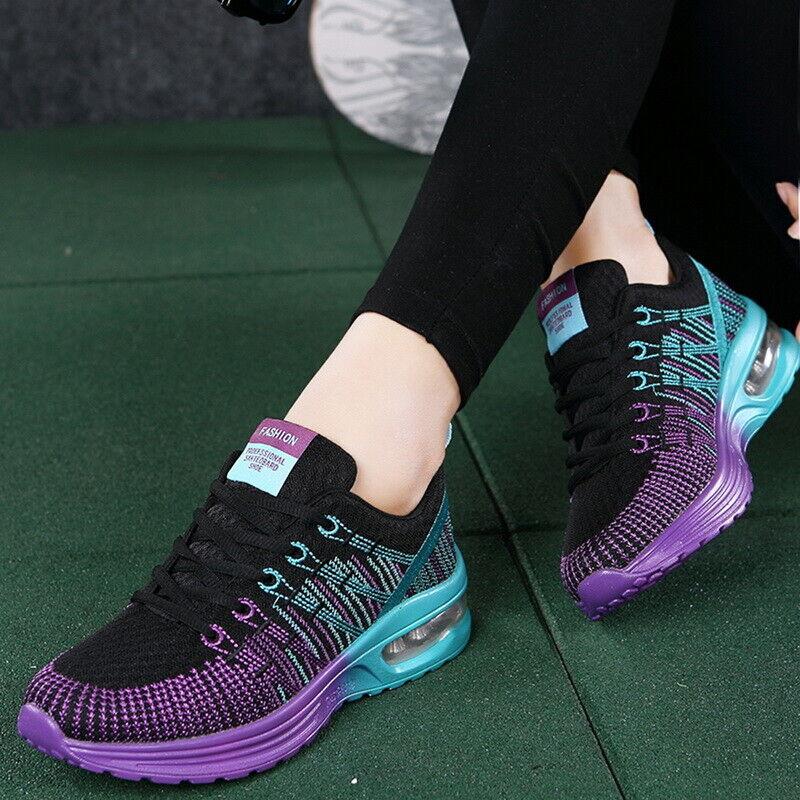 Fashion Women Air Cushion Sports Shoes Mesh Breathable Tennis Athletic Sneakers
