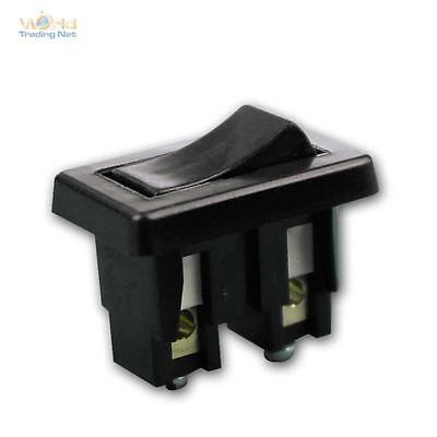 Wippenschalter mit Schraubanschluss, schwarz 230V/2A Wippschalter Einbauschalter