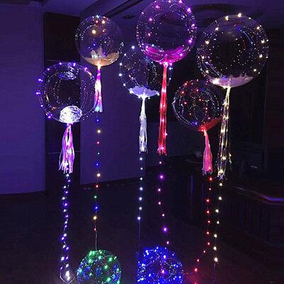 LED Transparent Helium Gas Ballon Lights Wedding Birthday New Year Party Decor