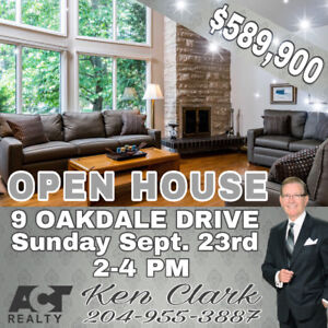 ‼️OPEN HOUSE‼️This Sunday at 9 Oakdale Drive, Winnipeg
