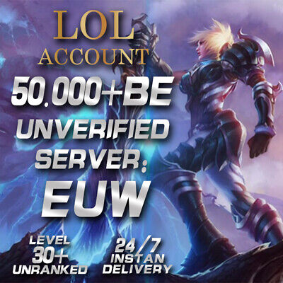 League of Legends Account EUW LOL Smurf 50.000 - 60.000 BE IP...