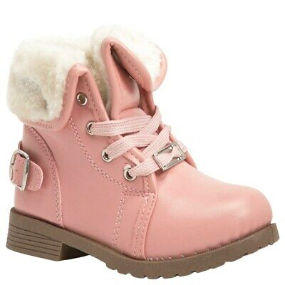 Bebe Toddler Girls Pink Faux Fur Cuff Boots - Sz 5, 6, 7, 8, 9, or 10