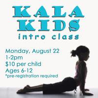 Kids' Yoga Intro Class at Kala Yoga!