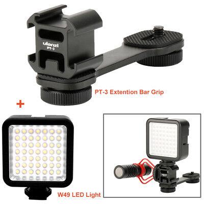 PT-3 L Bracket Triple + Mini LED light for Microphone DJI Osmo Mobile 2 Gimbal