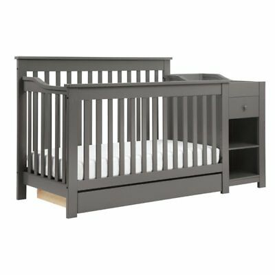 Da Vinci Piedmont 2 Piece 4-in-1 Crib and Changer Set in Slate