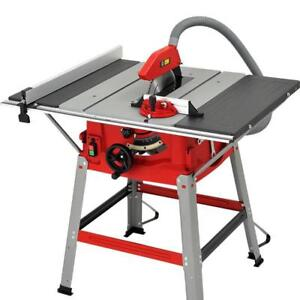 """110V 10"""" Table Saw Stand Sliding Extension Bench Top Woodworking 028079"""