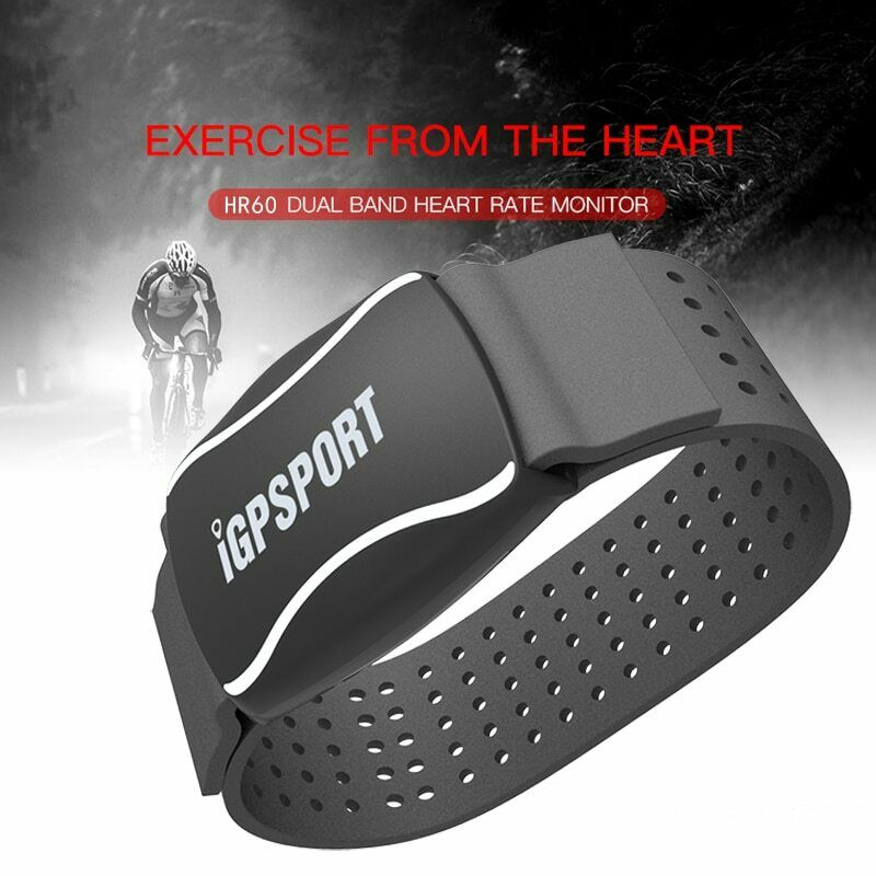 iGPSPORT HR60 Fitness Cycling Heart Rate Band Monitor Arm ANT+ Bluetooth IPX7