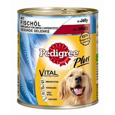 Pedigree Dose Adult Plus Fischöl mit Rind | 12x800g