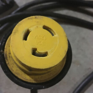 Locking Travel Trailer Power Cable 30A 120VAC - REGULAR $200 !!