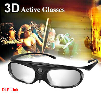 3D Glasses Active Shutter DLP Link Stereo Clip on For Optoma DLP Projectors BenQ