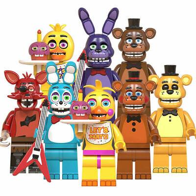 8 Pcs Minifigures - Five Night At Freddy's set Bunny Chica Freddy FOXY lego MOC