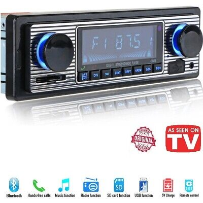 Bluetooth Vintage Car Radio MP3 Player Stereo USB AUX Best Classic Stereo