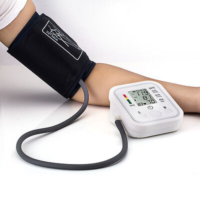New Arm Cuff LCD Digital Blood Pressure Pulse Monitor USA SELLER