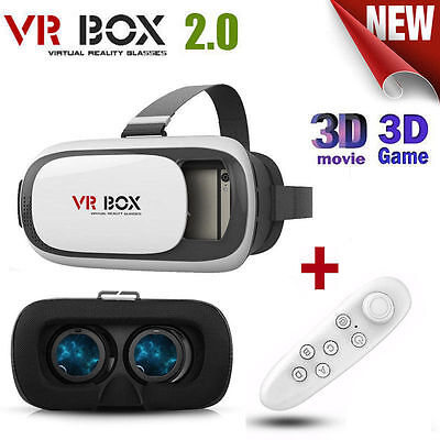 3D VR BOX 2.0 Google Cardboard Virtual Reality Glasses Bluetooth Control Gamepad
