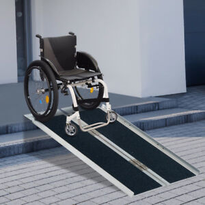 "5"" Foldable Portable Wheelchair Ramp Scooter Mobility Easy Acces"