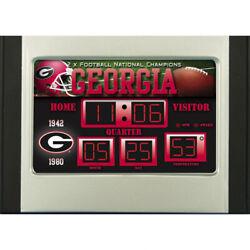 Georgia Bulldogs 2 Time Champ Scoreboard Desk Clock -  Free Ship - Go Dawgs