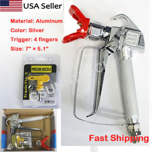 3600PSI Airless Paint Spray Gun w/ Tip&Tip Guard Sprayers US Fast shipping