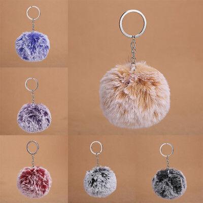 Faux Fur Ball Pom Pom Keychain Puff Keyring Fluffy Accessories Car Bag Charm 1PC