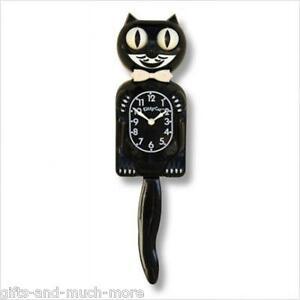 Kitty Kit - Cat Clock Uhr Black Classic das Original aus USA in schwarz  NEU