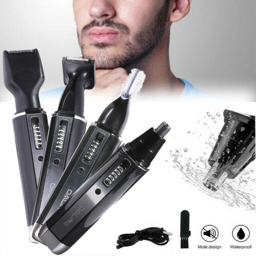 4 In 1 Electric Rechargeable Beard Eyebrow Ear Nose Hair Clipper Shaver Trimmer - $15.19