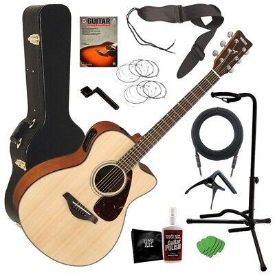 Yamaha FSX800C Acoustic Electric Guitar - Natural COMPLETE GUITAR BUNDLE