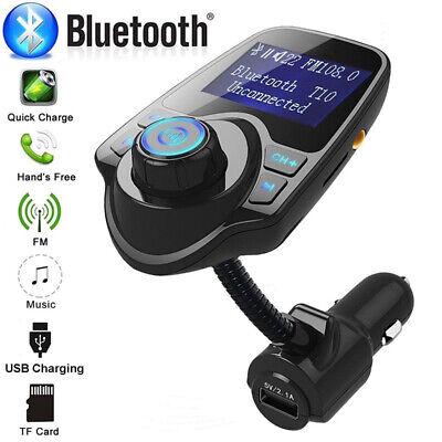 Car Cigarette Lighter Bluetooth Calling FM Radio Transmitter AUX MP3 USB Port US