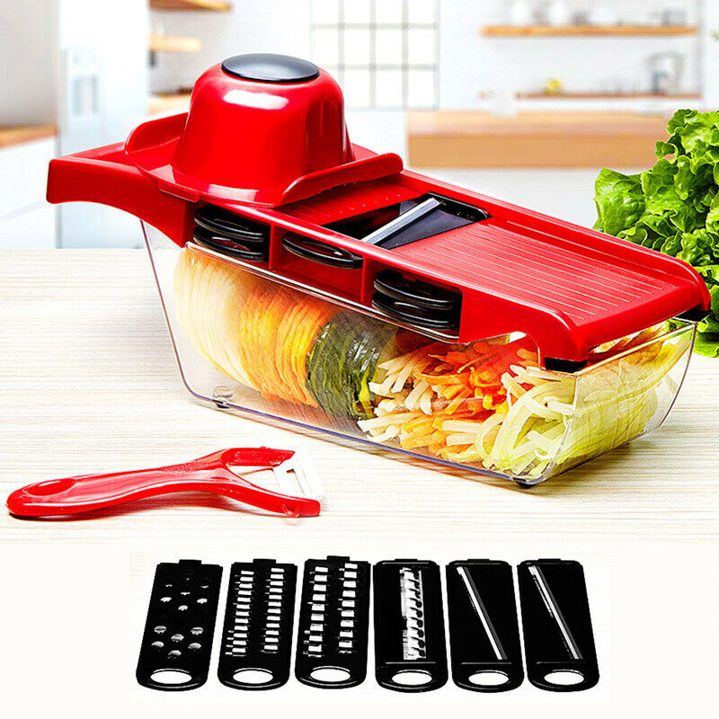 6X Blade Peeler Vegetable Chopper Slicer Onion Dicer Fruit Kitchen Cutter Tools