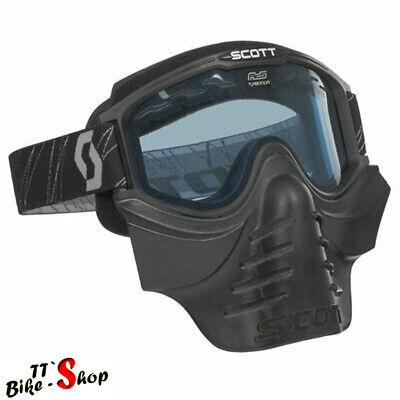 Scott 83X Safari in Schwarz mit Gesichtsschutz, Crossbrille, Endurobrille