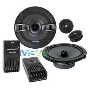 "Kicker KSS654 6-1/2"" 6.5"" 2-Way Component Speaker System (Black)"