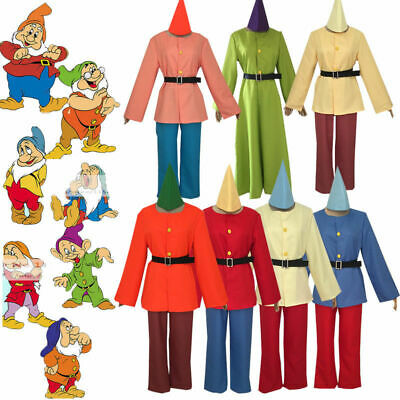 Anime Snow White and Seven Dwarfs Cosplay Costume Halloween Full Set - Seven Dwarf Costumes Halloween