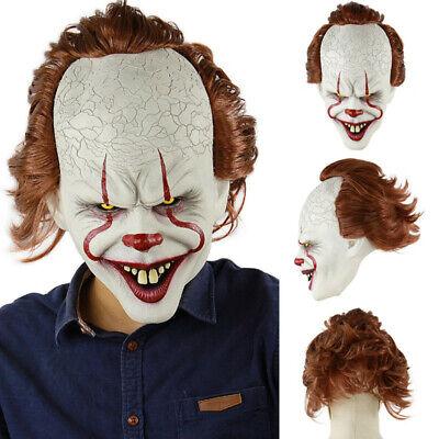 Halloween Horror Costumes (Pennywise Halloween Clown Mask Stephen King's IT Horror Joker Cosplay)