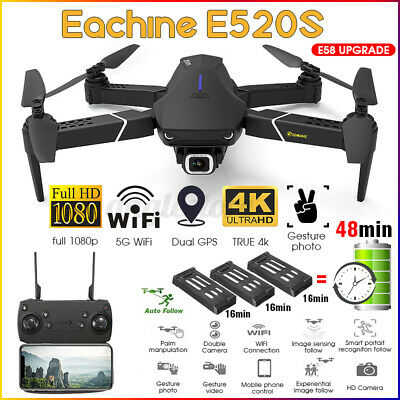 Eachine E520S GPS WIFI FPV 5G 1080P/4K HD Camera Foldable RC Drone Quadcopter US