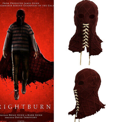 2019 Movie BrightBurn Cosplay Masks Scary knitted Red Full Head Hood Halloween