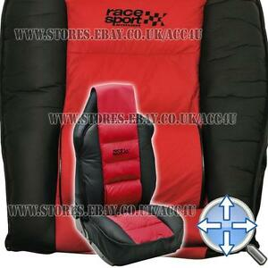 race sport red black luxury padded lumbar support car single seat cover cushion ebay. Black Bedroom Furniture Sets. Home Design Ideas