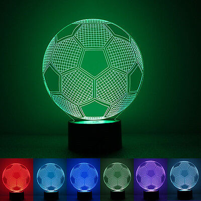 Colorful Soccer Ball Light Football 3D Visual Led Night Lights Usb Table Lamps