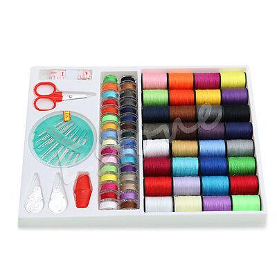 100pcs Sewing Kit Measure Scissor Thimble Thread Needle Storage Box Travel Set