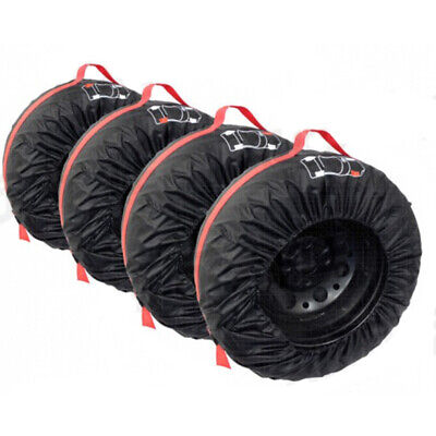 4pcs Car Spare Tire Cover Case Polyester Winter Summer Car Tires Storage Bag