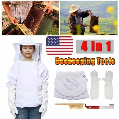 Beekeeper Clothing Suit Bee Honey Keeping Equipment Gloves Bee Hive Brush J Hook