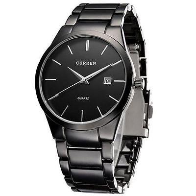 CURREN Fashion Stainless Steel Date Waterproof Sport Mens Wrist Quartz Watch AU