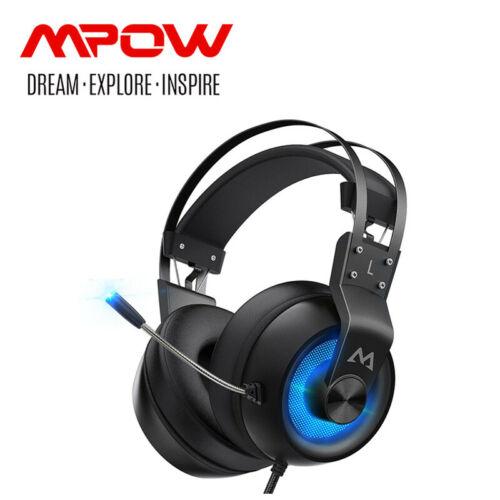 Mpow LED Gaming Kopfhörer 7.1 Surround Sound Headphone für PC, PS4, PS5, Switch