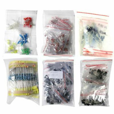 Lot 1390pcs Electronic Ceramic Components Led Diode Transistor Capacitor Set Kit
