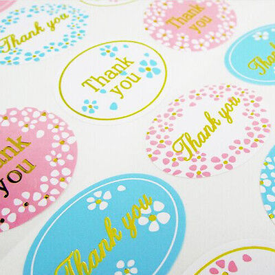 120pcs Self-adhesive Thank You Sticker Packaging Sealing Cards Envelope Seals