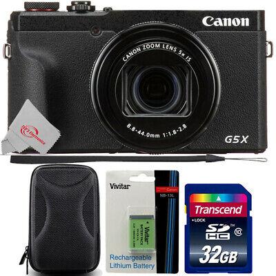 Canon PowerShot G5 X Mark II Digital Camera with 32GB Card + Extra Battery
