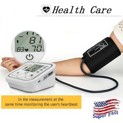 Electronic Blood Pressure Monitor High Accuracy Heart Beat Arm Cuff Meter USB US