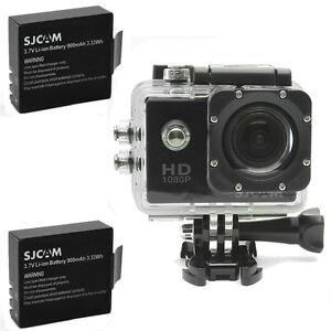 Original-SJCAM-SJ4000-HD-1080P-Cam-Sports-Action-Waterproof-Camera-2x-Batteries
