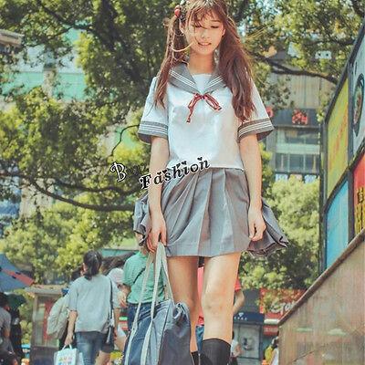Japan School Student Uniform Mode Dress Cosplay Kostüm Schulmädchen Costume