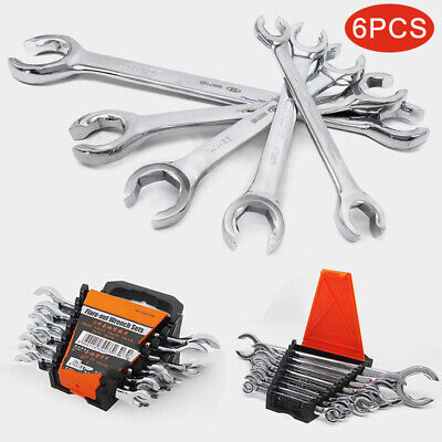 Ring Nut Wrench - 6pcs Wrench Split Ring Flare Nut Brake Spanner 8mm-22mm Fuel Gas Repair Tools CT