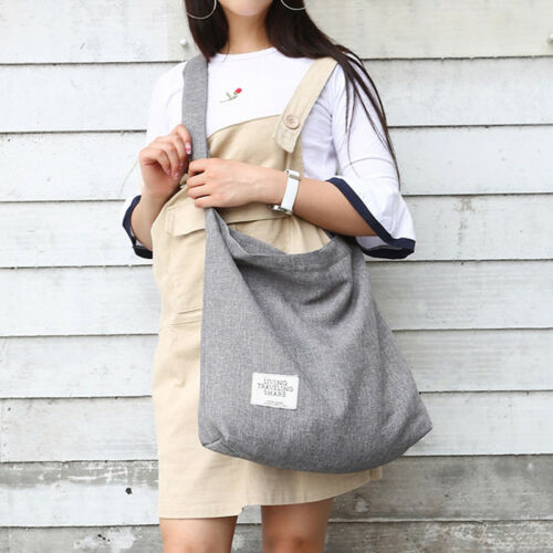 Women Vintage Canvas Hobo Bag Large Tote Messenger Shoulder
