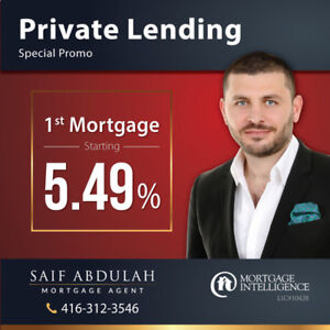 ⭐5.49%⭐ 1st Mortgage - First Mortgage - Private Lending