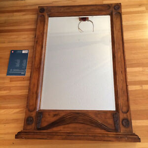 Large Wooden Antique Mirror